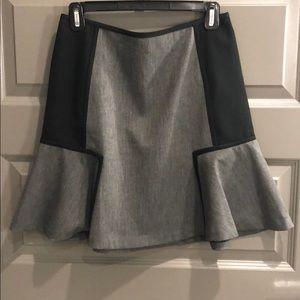 DKNY Gray Flannel Skirt Size 6 NWOT